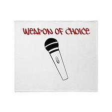 MC Weapon of Choice Microphone Throw Blanket