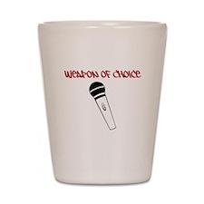 MC Weapon of Choice Microphone Shot Glass