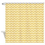 Yellow Zig zag Shower Curtain
