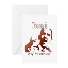 obama is my homeboy.png Greeting Cards (Pk of 10)