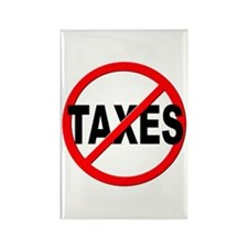 Anti / No Taxes Rectangle Magnet (10 pack)