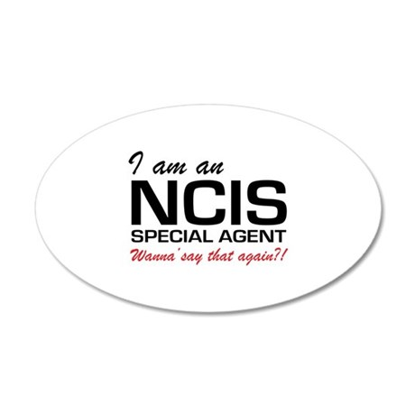 I am an NCIS special agent 38.5 x 24.5 Oval Wall P