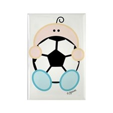 Soccer Baby Rectangle Magnet