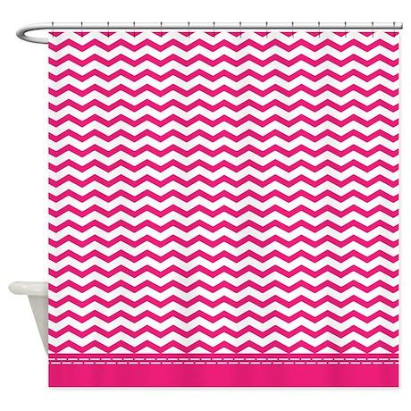 Chevron gifts chevron bathroom decor hot pink chevron shower curtain