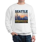 Seattle WA Skyline Graphics Sunset Sweatshirt