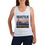 Seattle WA Skyline Graphics Sunset Women's Tank To