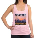Seattle WA Skyline Graphics Sunset Racerback Tank