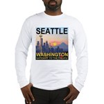 Seattle WA Skyline Graphics Sunset Long Sleeve T-S