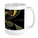 Large Gold Butterfly Mug