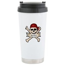 Personalized Pirate Skull Travel Mug