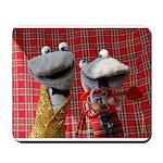 Mousemat with Scottish Falsetto Socks