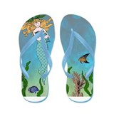 Vintage Mermaid Flip Flops