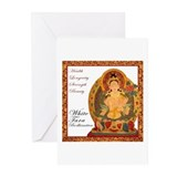 White Tara Bodhisattva III Greeting Cards (Pk of 1