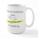 Beware: Plotting Writer Large Mug