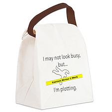Beware: Plotting Writer Canvas Lunch Bag