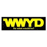 WWYD Yellow Bumper Bumper Sticker