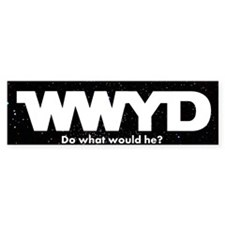 WWYD White Bumper Bumper Sticker