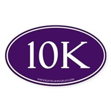 Purple 10K Run Achievement Decal