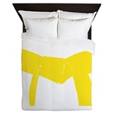 Martial Arts Yellow Belt Queen Duvet