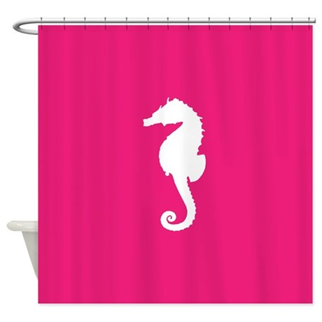 Hot Pink Seahorse Shower Curtain By Inspirationzstore