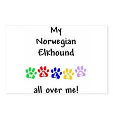 Norwegian Elkhound Walks Postcards (Package of 8)
