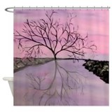 Abstract Modern Tree Shower Curtain