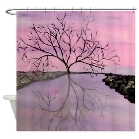 Abstract Modern Tree Shower Curtain by markmoore