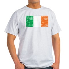 Vintage Ireland Flag Ash Grey T-Shirt