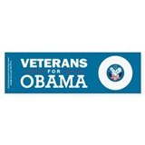 Veterans for Obama Car Sticker