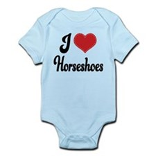 I Love Horseshoes Infant Bodysuit