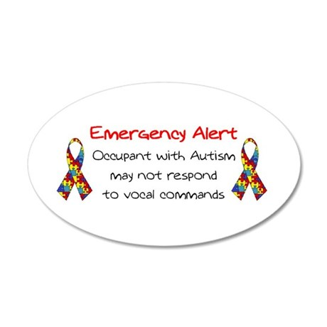 Autism Alert.bmp 35x21 Oval Wall Decal