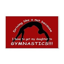 Gymnastics Rectangle Car Magnet
