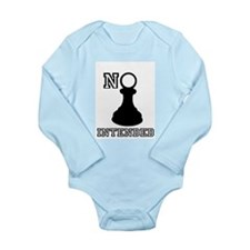No Pawn Intended Long Sleeve Infant Bodysuit