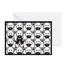 Black & White Border Collie in the Sheep Cards