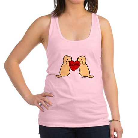 Twin Yellow Labs Racerback Tank Top