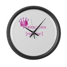 Personlized Princess Large Wall Clock