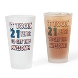 21st birthday Pint Glasses