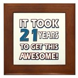 21 Year Old birthday gift ideas Framed Tile