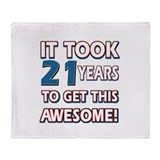 21 Year Old birthday gift ideas Throw Blanket
