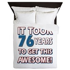 76 Year Old birthday gift ideas Queen Duvet