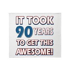 90 Year Old birthday gift ideas Throw Blanket