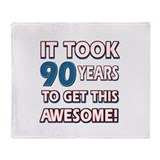 90 Year Old birthday gift ideas Throw Blanket