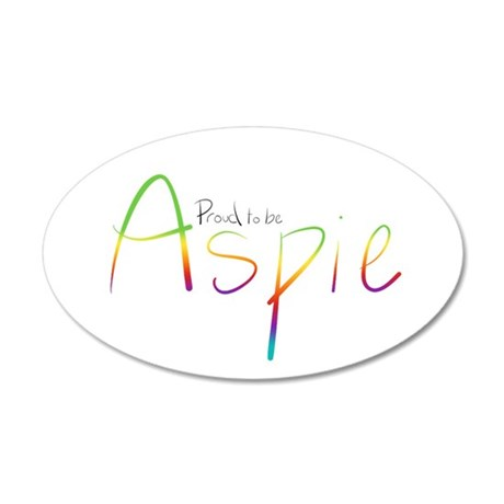 Proud to be Aspie 35x21 Oval Wall Decal