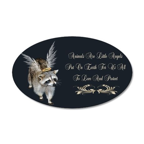 Animals Are Little Angels 35x21 Oval Wall Decal