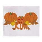Halloween Pumpkin Kim Throw Blanket