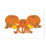 Halloween Pumpkin Kim Postcards (Package of 8)