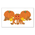 Halloween Pumpkin Kim Sticker (Rectangle)