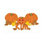Halloween Pumpkin Kim 35x21 Wall Decal