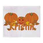 Halloween Pumpkin Kristin Throw Blanket