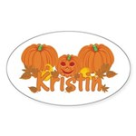 Halloween Pumpkin Kristin Sticker (Oval)